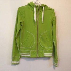 Lululemon Rare Lime Green/White Varsity Jacket